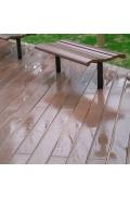 Доска ДПК под дождём